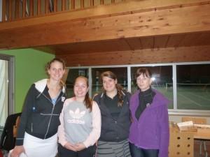 De gauche à droite : Victoria, Laura, Marion, Monique